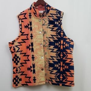 Rebecca Malone Woman Fleece Vest Southwest 2X